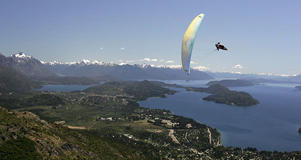 Flying Bariloche, in Patagonia. Photo: Olivier Laugero