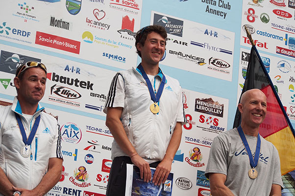 Grabowski, Kirchner and Friedl, Class 5 podium. Photo: Richard Sheppard