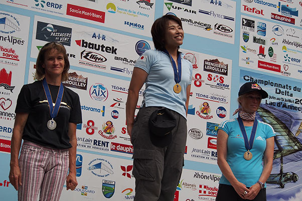 The Women's Class podium. Photo: Richard Sheppard