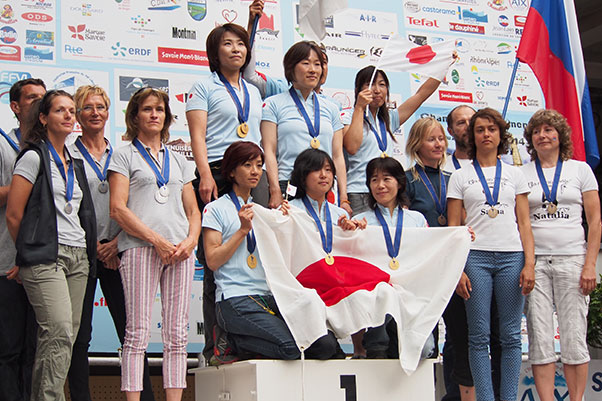Women's team podium. Photo: Richard Sheppard