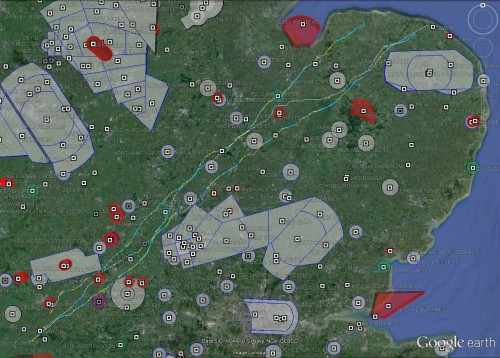 Tracklogs from Mark Watts, Al Wilson and Simon Twiss on 3 August 2014. Click for bigger image