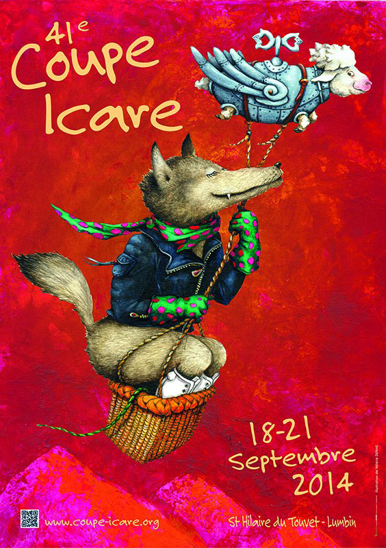 The poster for 2014's Coupe Icare was designed by Valérie Dumas, www.valeriedumas.com
