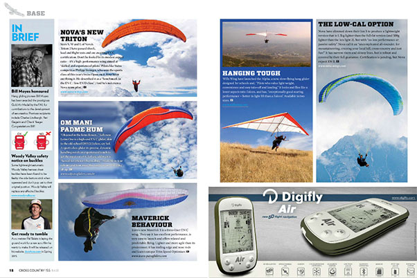 New paragliding products