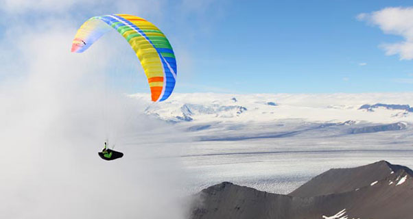 Ice and slice: paragliding in Iceland