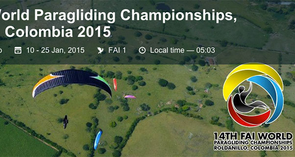 Colombia 2015: Call to register for PG World Championships