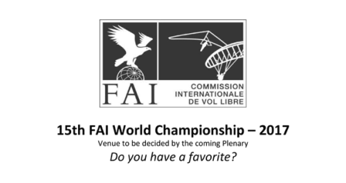 2017 Paragliding Worlds: Location Vote