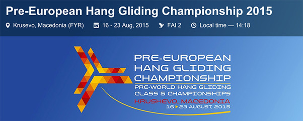 Hang Gliding World and European Championship dates