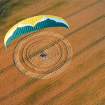 Film: Paramotoring over crop circles