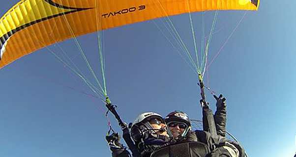 Tandem paramotor speed-to-3,000m record