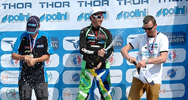 Jeremy Penone wins Slalomania in Dovera, Italy
