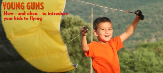 Paragliding with kids