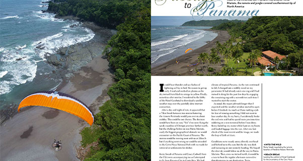 Passage to Panama: Punta Mariato by Paramotor