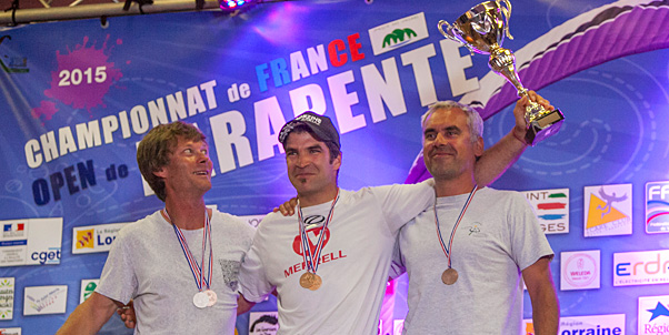 Charles Cazaux and Laurie Genovese: 2015 French PG champions
