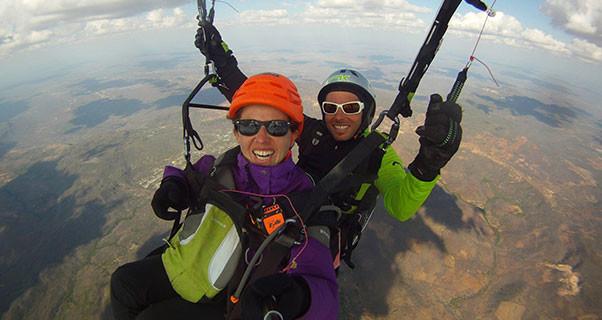 363km tandem paraglider flight