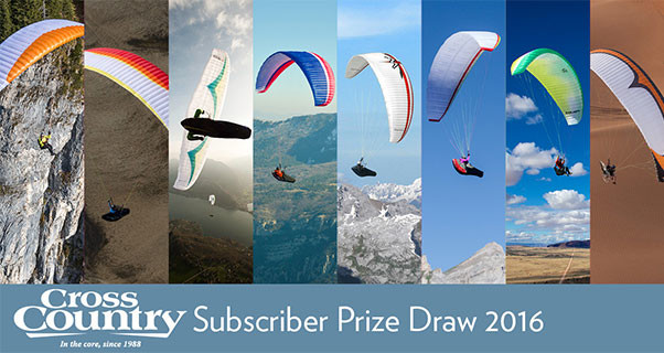 Win a Paraglider: 2016 Subscribers' Draw