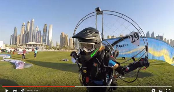 Marie Liepmann at the World Air Games in Dubai