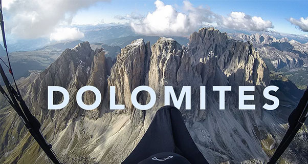 Paragliding-In-The-Dolomites