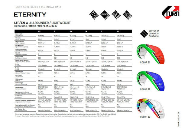 U-Turn Eternity specs