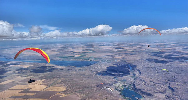 Record 226km task in Chelan at US Paragliding Nationals
