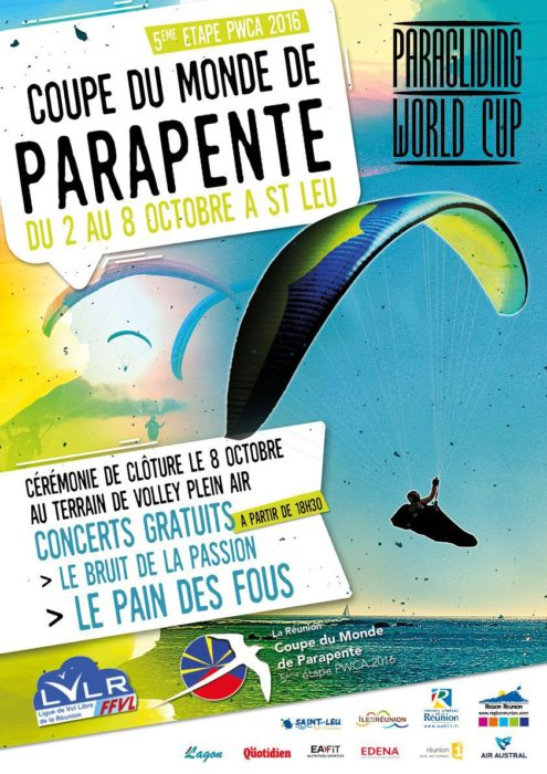 Paragliding World Cup round 5: La Reunion 2016 @ Saint-Leu | Saint-Paul | Reunion