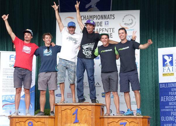 The Synchro podium. Photo: FAI