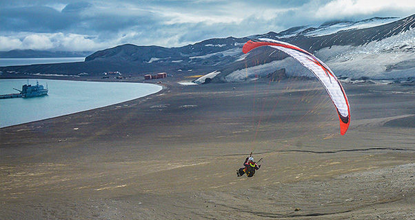 Paragliding in Antarctica with Maxime Chiron