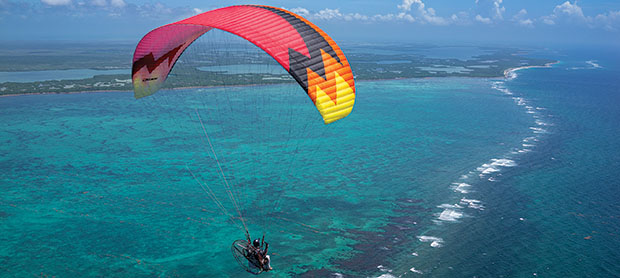 Paramotoring in the Caribbean