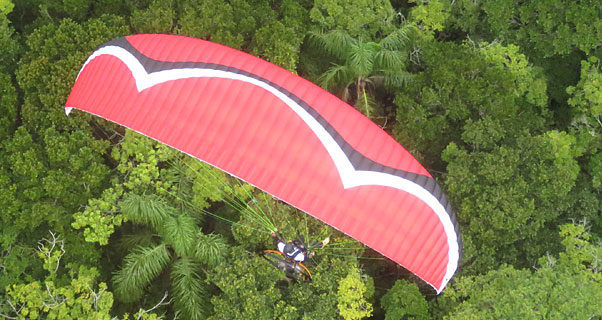 Sol release Auster GT, reflex paramotor wing
