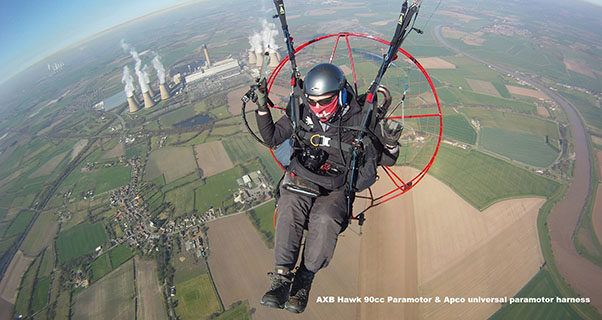 Stolen paramotor gear UK: serial numbers and photos