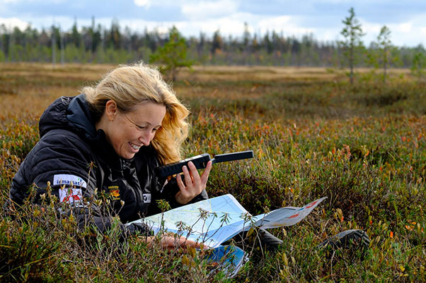 Sacha Dench in Siberia, preparing to fly. Photo: WWT / flightoftheswans.org