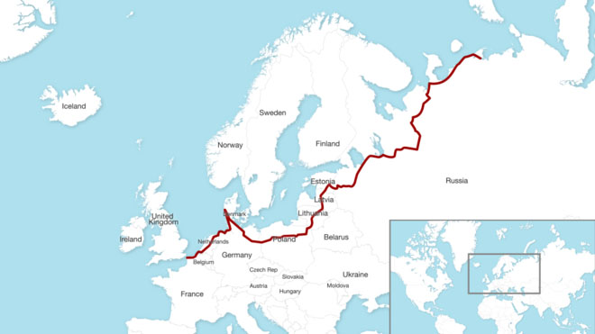 The route Sacha took. Map: BBC News