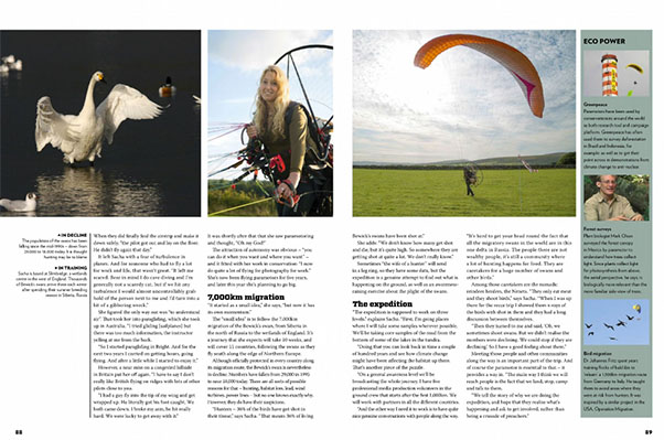 Sacha Dench's interview in Cross Country Magazine, July 2016
