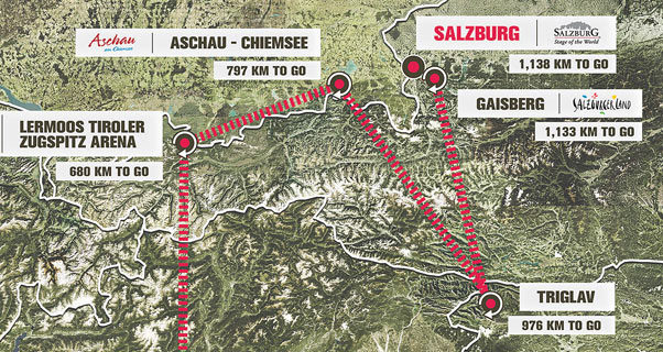 Red Bull X-Alps 2017 route map