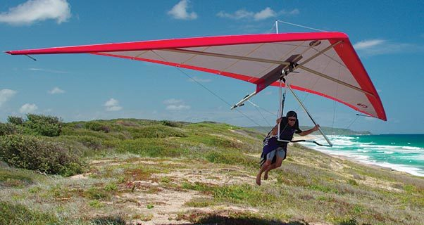 Airborne F2-T hang glider for nanotrikes