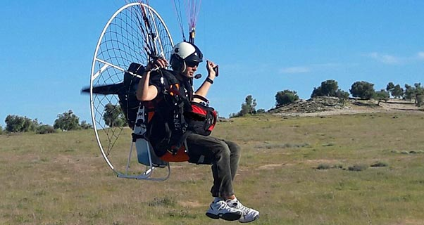 Dron: new paramotor frame from Airfer