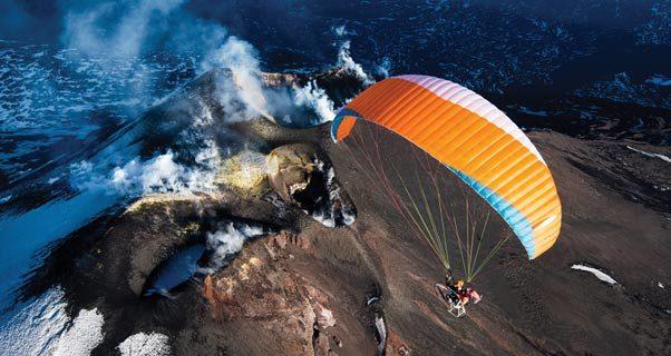 Paramotoring Mount Etna