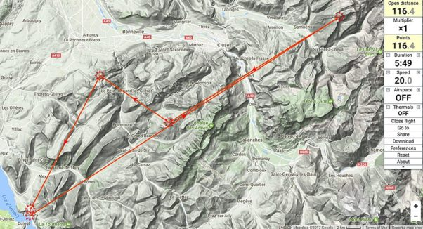 Bornes to Fly 2017: the route