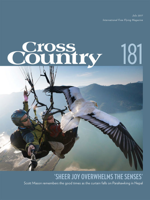 Covershot ... on the front of Cross Country earlier in 2017