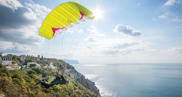 Speedflying the mountains and coastline of Crimea
