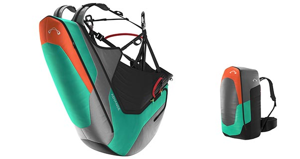 Advance Progress 3 reversible paraglider harness