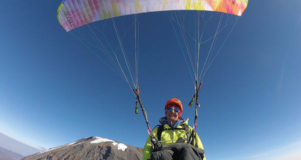 Paragliding from Kilimanjaro
