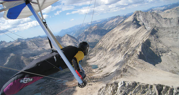 Hang gliding in Owens Valley