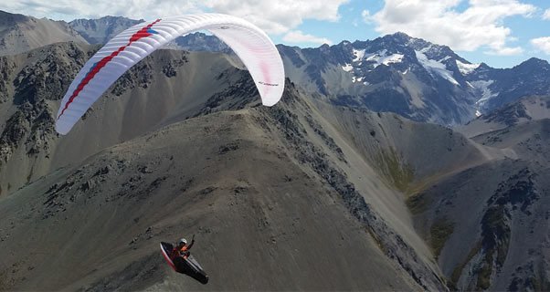 Haydon Gray paragliding in New Zealand