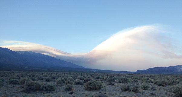 Wave cloud in Owens Valley